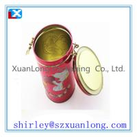 Buy cheap Round Tea Tin Cans With Lids With Printing  www.xuanlongpackagingco.com from wholesalers