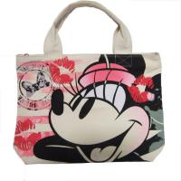 Wholesale White Womens Nylon Tote Bags Silk Screen Print With Zipper Closure from china suppliers