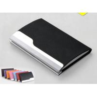 Wholesale PU Leather Cover On Metal Frame Business Card Holder With Classic Design from china suppliers