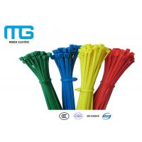 Wholesale Custom Color Reusable Tie Wraps , Plastic Ties For Cables CE Approved from china suppliers