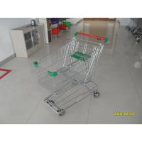 Buy cheap Professional 125L Supermarket Shopping Trolley With Wire Mesh Base Grid ROHS from wholesalers