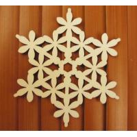 Wholesale Decorative Wood Snowflakes Ready to Paint and for the Christmas Holidays from china suppliers