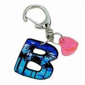 China Laser Cut Word Keychain on sale