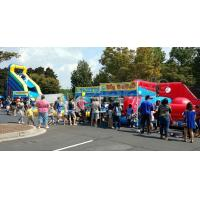 Buy cheap Fire Retardant Excited Inflatable Water Slide With Pool Outdoor Sport Games from wholesalers