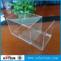 Quality factory custom clear acrylic shoe boxes/perspex shoe box/display shoe box for sale