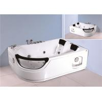 Quality Jacuzzi Bubble Bath Jetted Corner Whirlpool Bathtub With Shelf 1800*1230*680mm for sale