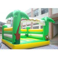 Wholesale Mini Green Color Inflatable Bouncer , Palm Tree Bouncer For Outdoor Playing from china suppliers