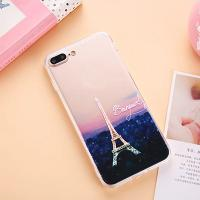 Acrylic Landscape Series Cell Phone Case Back Cover For iPhone 7 6 6s Plus 5s with Dust Plug Lid Lanyard Hole for sale