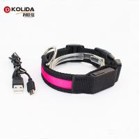 China Factory Supply Neck Designs Light Strip Leather Dog Collar on sale