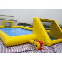 Wholesale Inflatable Soccer Game / football Field Sports Equipment With 0.45mm - 0.55mm PVC Tarpaulin from china suppliers