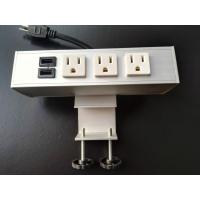 Buy cheap Desk Mounted Power Sockets Electrical Outlet , Metal Tabletop Power Bar from wholesalers
