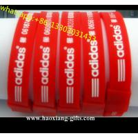 Professional Cheap Custom Adjustable charm Silicone Wristband/bracelet for sale