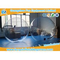 Quality Summer water games PVC / TPU Inflatable Water Zorb Ball with Customized Color / for sale