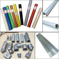 Wholesale Assemble Pipe Rack Product Parts Plastic Coated Pipe and Aluminum round pipe and joint System from china suppliers