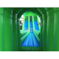 Quality Commercial Giant Inflatable Zip Line Slide For Adults Green Color for sale