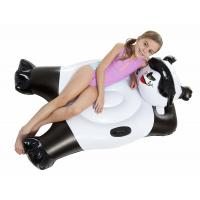 Wholesale Black and White Panda Bear Inflatable Pool Floats With Handles Custom Size from china suppliers