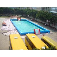 Quality Lagre Tarpaulin Inflatable Sports Games , Blue Color Inflatable Football Court / for sale