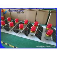 Wholesale Low - Intensity L810 Solar Aviation Warning Lights For Wind Turbine / High Chimney from china suppliers