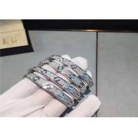 Wholesale Cartier Love Bracelet 18K White Gold Diamond-Paved full diamond from china suppliers