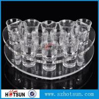 Wholesale acrylic beer tasting tray holder / acrylic tray cup holder / acrylic shot glass tray for bar from china suppliers