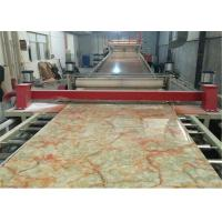 China PVC Faux Marble Sheet Production Line CE , PVC Marble Sheet Making Machine / Plastic Sheet Extruder on sale