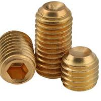 China Brass Hex Socket Head Grub Screw With Cup Point For Automobile Industry for sale