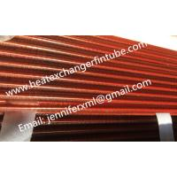 Buy cheap Tension Wound Single Row Flat Fin Tube For Air Cooled Condenser from wholesalers
