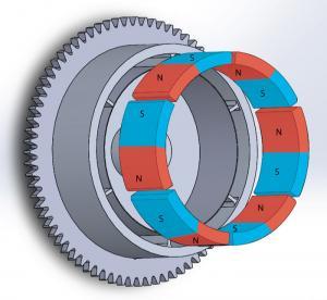 Durable Customized Flywheel Arc Shaped Segment Ferrite Magnet