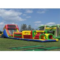 Wholesale Funny Inflatable Obstacle Course , Bouncy Obstacle Course Jumpers With CE from china suppliers