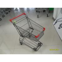 Wholesale 80L supermarket shopping cart of  Four Wheeled with anti UV plastic parts from china suppliers