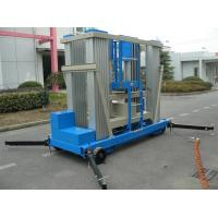 Wholesale Aluminum Alloy Push Around Vertical Mast Lift 22 M Motor Driven For Window Cleaning from china suppliers