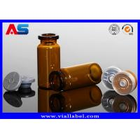 China 5ml 8 ml 15ml 10mL Small Glass Vials Bottles With Flip Off Cap Rubbers for sale