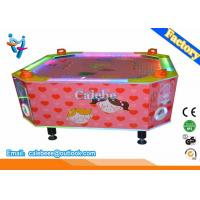 China 4 Players Kids Air Hockey Table Loving Heart Style With Led Light on sale