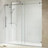 Wholesale 304 Stainless Steel Sliding Glass Free Standing Shower Enclosure from china suppliers