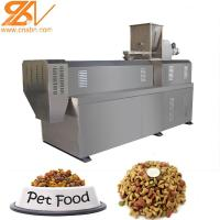 China Dry Kibble Dog Food Extruder Machinery Plant 100kg/H - 6kg/H Big Range Puffing Snack on sale