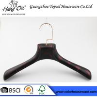 Wholesale rose gold metal hook plastic hanger imitate wood hanger from china suppliers