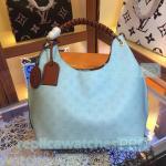 China Top Quality Clone LV Bag Blue Taurillon Leather Ladies Lv handbag Shoulder Bag for sale