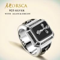 Wholesale Morsca black cubic zircon fashionable sterling 925 silver ring jewellery for sale from china suppliers