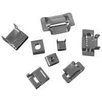 China 20mm 25mm Stainless Steel Banding Clips , Banding Strap Clips Customized Thickness on sale