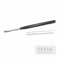 Wholesale Custom Synthetic Hair Round Oval #4 Black Wood Gel Master Nail Art Brush from china suppliers