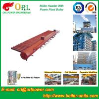 Wholesale Low Pressure Steel Electric CFB Boiler Header Boiler Steam Header Water Tube Structure from china suppliers