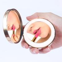 China Traveling Pocket LED Makeup Mirror 1 Hour Woking Time With Beauty Light on sale