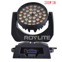 Quality 10w RGBW Multi Color Led Moving Head Wash Light With Zooming Beam Angle 10° - 60 for sale