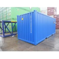China 20 Foot Steel Shipping Containers , DNV Standard Shipping Container Custom Color for sale