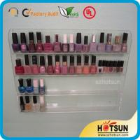 Wholesale Clear Acrylic Nail Polish Wall Display Rack, custiomized tier nail polish rack from china suppliers