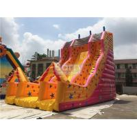 Wholesale Custom Made Kids Inflatable Slide Single Lane Yellow 12x7x10m from china suppliers