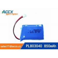 Wholesale 7.4V 850mAh lithium polymer battery 803040 pl803040 li po battery for led light from china suppliers