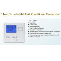 China Manual Heating And Cooling AC Wired Room Thermostat For Central Air Conditioner on sale