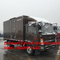 Wholesale Brownness Righ Hand Driving Commercial Box Truck With Cummins Engine 80HP from china suppliers
