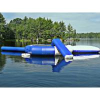 Wholesale Blue Outdoor Inflatable Water Trampoline, Customized Inflatable Water Toys For Lake from china suppliers